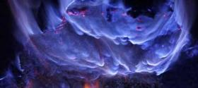 Blue flame special effects