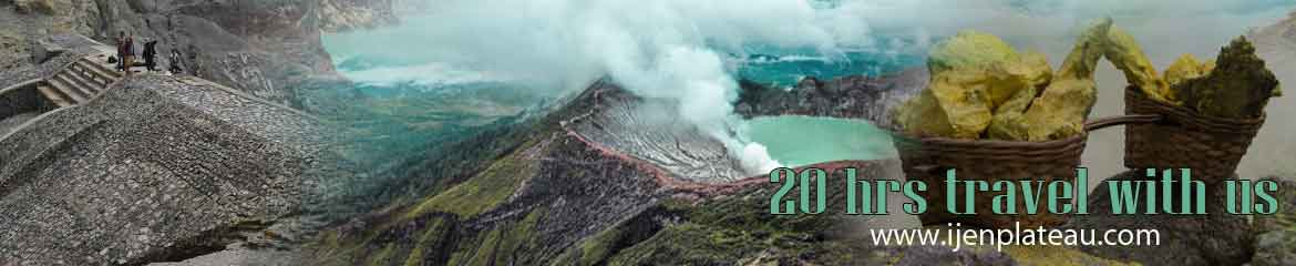 Sulphur miners at the Ijen crater lake - tour Bali Ijen Bali in 20 hours