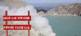 Toxic gases at the Ijen crater lake